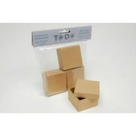 Set de 4 cajas cuadradas