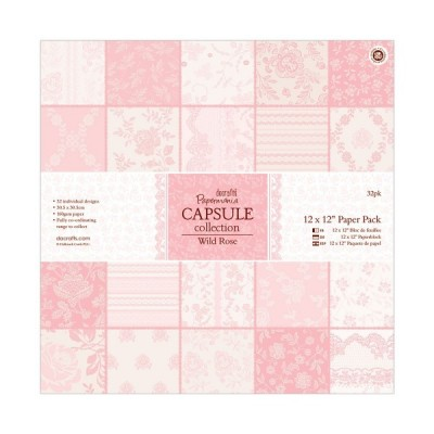 SURTIDO PAPEL SCRAPBOOKING 30X30CM BY PAPERMANIA - CAPSULE COLLECTION 'WILD ROSE'