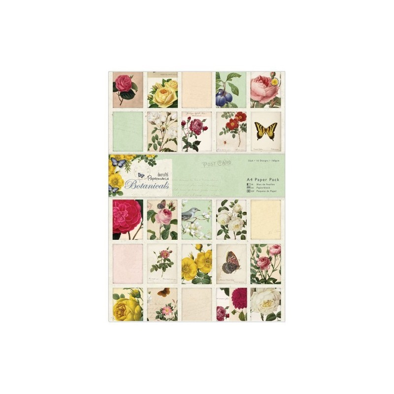 SURTIDO PAPEL SCRAPBOOKING A4 (32 HJS.) BY PAPERMANIA 'BOTANICALS'
