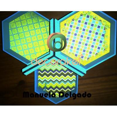 JOYERO DE MADERA 16.5X16.5X17X0.8CM