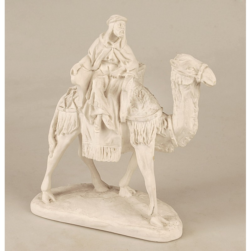 Figura rey a camello de marmolina ref 1304 Marin 22 x 27 x 11,50
