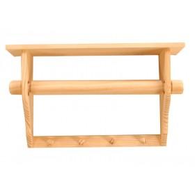Soporte de madera para rollo de cocina