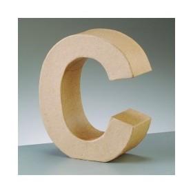 """Letra Cartón """"C"""" 17,5 x 5,5 cm DO-AR"""
