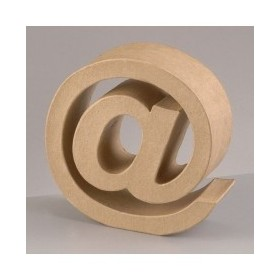 """Letra Cartón """"@"""" 17,5 x 5,5 cm DO-AR"""