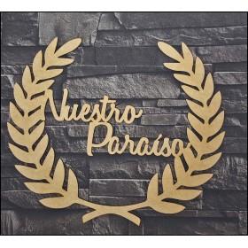 NUESTRO PARAISO DM 35.4 X 30 X 0.3 CM