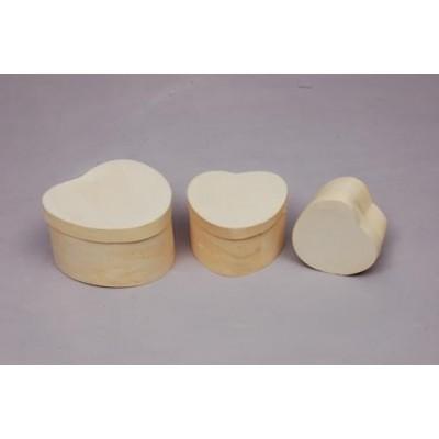 Set de 3 Cajas Corazón
