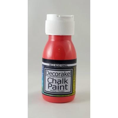 decorakel chalk paint DK12 rojo rakel 60 ml