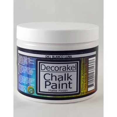decorakel chalk paint DK1 blanco luna 200 ml