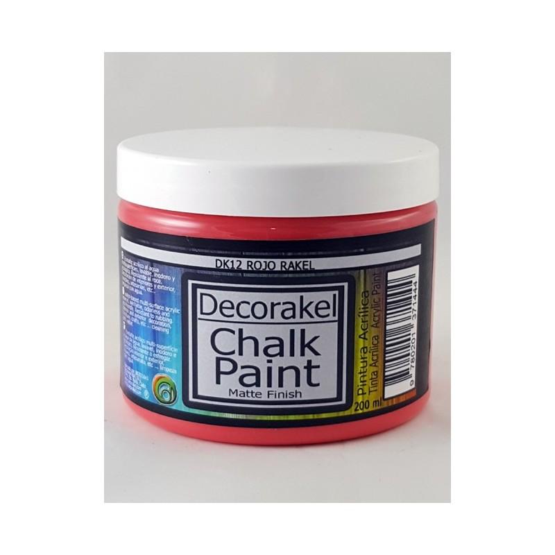 decorakel chalk paint DK12 rojo rakel 200 ml