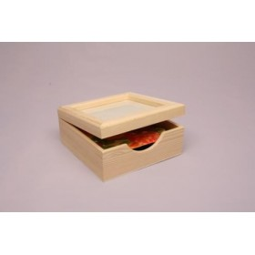 Caja para Servilletas con tapa de Cristal