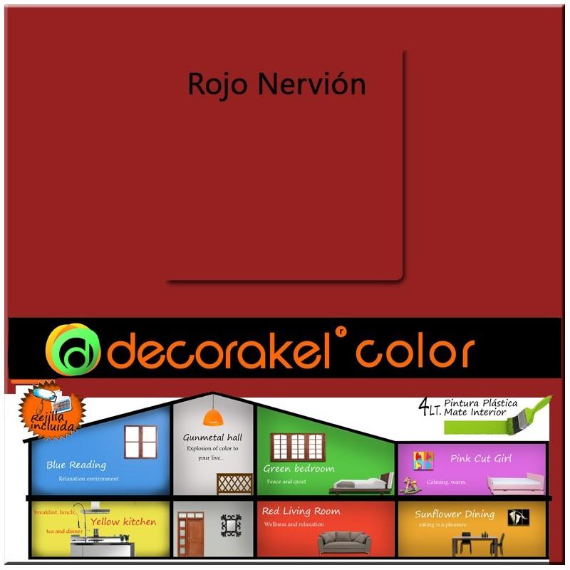 Pintura de interior Decorakel color rojo nervión