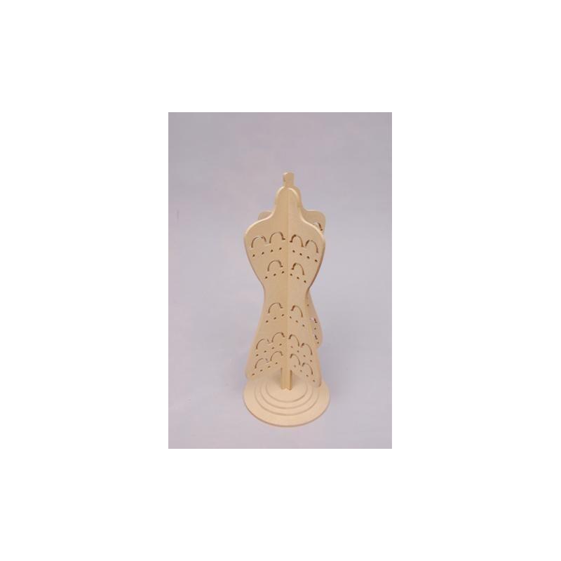 Maniquí de madera para Anillos y Pendientes