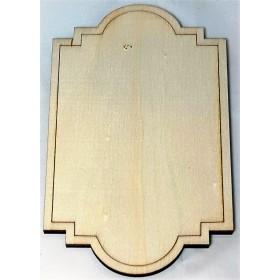 PLACA DE MADERA 14,5x8,5x0,5 cm