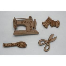 Juego Miniatura de 4 piezas de Costura