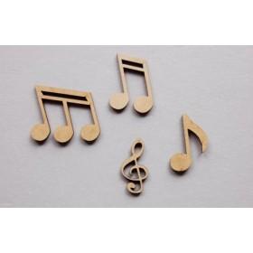 Set de 12 Notas Musicales