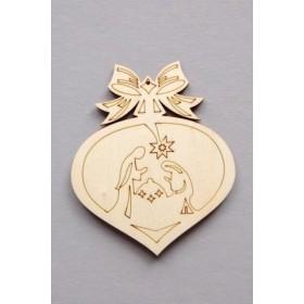 Corazón de Madera Navidad