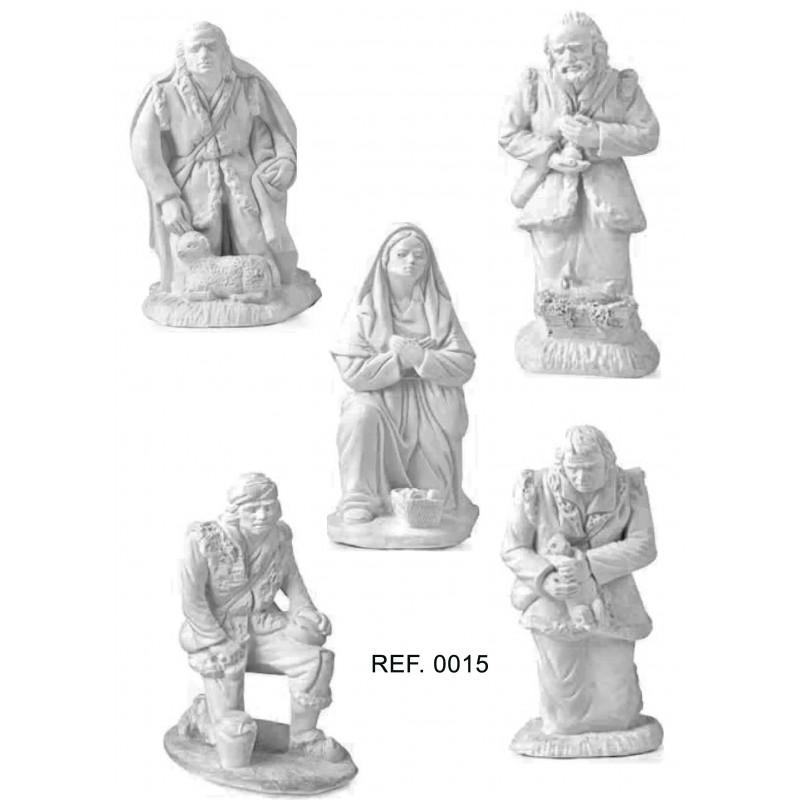 Adoración de los Pastores 5 pzas. 15 cm Álamo