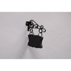 Miniatura letrero de metal