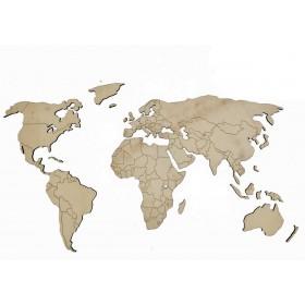 MAPA DEL MUNDO EN DM DE  75X41X0.6CM (Mapa Mundi)