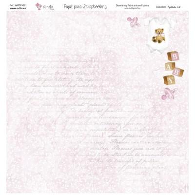 BLOC PAPEL SCRAP AGUGUTATA BOY (7 PAPELES) AMELIE