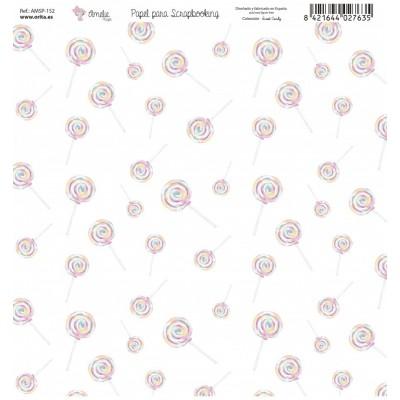 BLOC PAPEL SCRAP AMELIE SWEET CANDY ( 7 PAPLES )