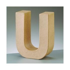"Letra Cartón ""U"" 17,5 x 5,5 cm DO-AR"