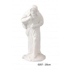 Pastor con cordero 20 cm álamo