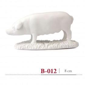 Cerdo de pie 8 cm álamo