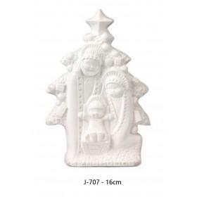 Nacimiento 1 pieza 16 cm álamo
