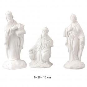Reyes 3 piezas 16 cm álamo