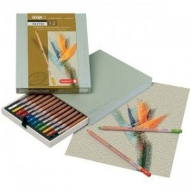 Caja lápices pasteles...