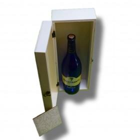 caja de madera 38x14x9 cm