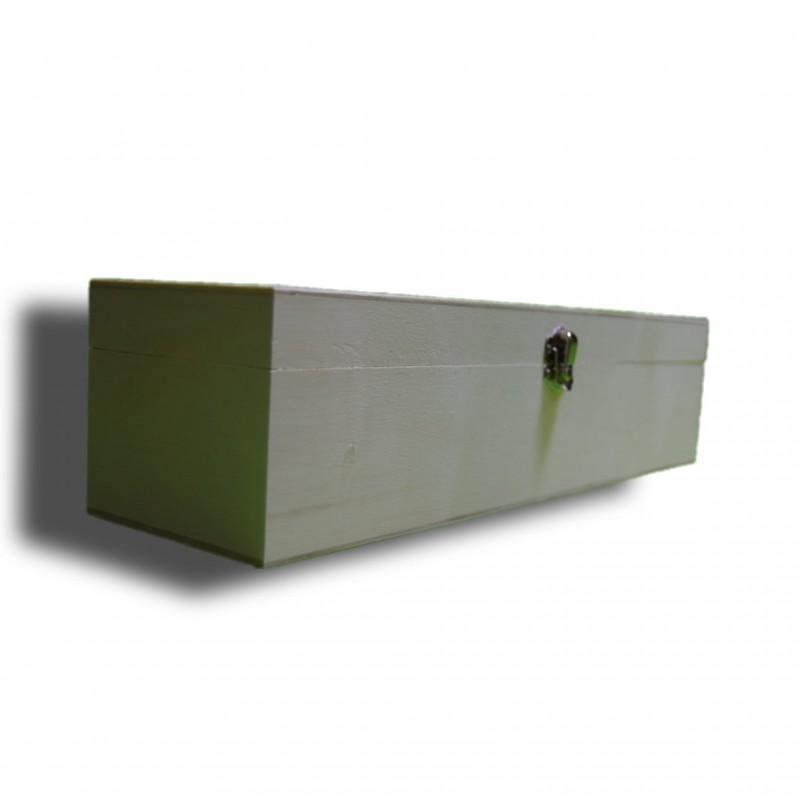 caja de madera alargada
