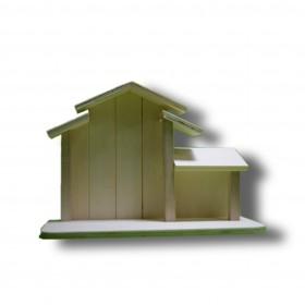 casa de nacimiento de madera para decorar