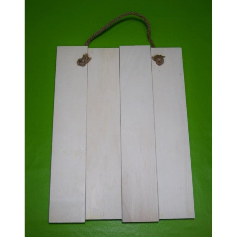 tabla de madera rayada para decorar